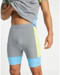 ASOS 4505 Running Tights With Colour Block - Grey