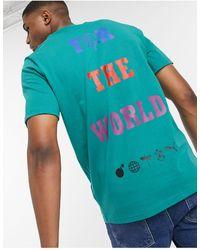 PUMA X The Hundreds - T-shirt verde con logo grande