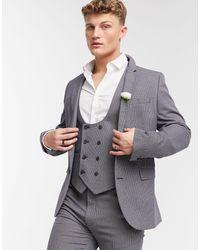 ASOS Wedding – Sehr enge Anzugjacke - Grau