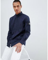 Hype - Shirt In Navy With Arm Logo - Lyst
