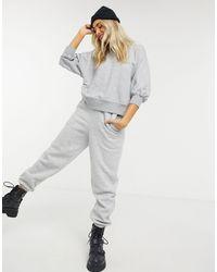 ASOS Boxy Sweatshirt With Wide Sleeve - Grey