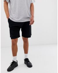 ASOS Jersey Drop Crotch Shorts - Black