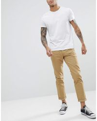 Solid - Chino In Tan - Lyst