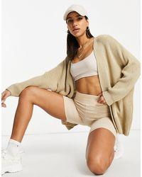 Naanaa Slouchy Knit Cardigan - Natural
