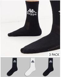 Kappa Authentic 3 Pack Socks - Black