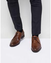 Jack & Jones Premium Leather Derby Shoes - Brown