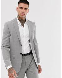 TOPMAN Slim Suit Jacket - Grey