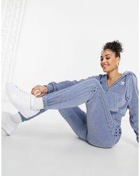 """adidas Originals Синие Велюровые Джоггеры """"relaxed Risqué""""-голубой - Синий"""