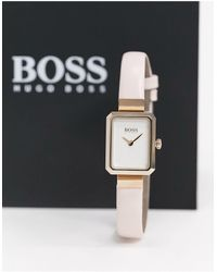 BOSS by Hugo Boss Whisper - Orologio rosa con cassa squadrata
