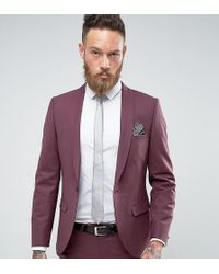 020cbaf9574b Noose And Monkey Super Skinny Suit Jacket in White for Men - Lyst