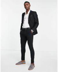 French Connection Однотонный Приталенный Пиджак -черный Цвет