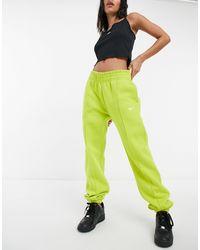 Nike Желтые Oversized-джоггеры С Небольшим Логотипом-галочкой -желтый