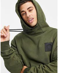 Marshall Artist Sudadera con capucha extragrande fantom siren - Verde