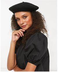 Monki Brooklyn Beret Hat - Black