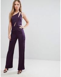 Oh My Love - One Shoulder Jumpsuit - Lyst