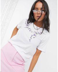 Vila Embroidered T-shirt - White
