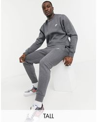 Nike Темно-серый Свитшот С Круглым Вырезом Tall Club