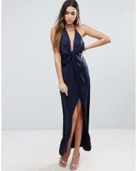ASOS - Cami Strap Fold Front Wrap Maxi Dress - Lyst