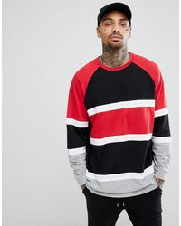 ASOS Longline Oversized Long Sleeve T-shirt With Bright Color Block - Multicolor