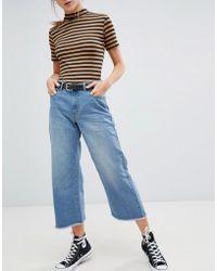 Daisy Street - Wide Leg Denim Skater Jeans - Lyst