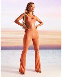ASOS Kick Flare Trousers - Orange