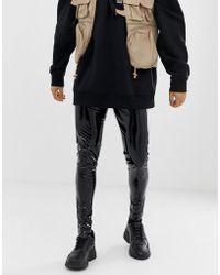 ASOS - megging In Black Wet Look - Lyst