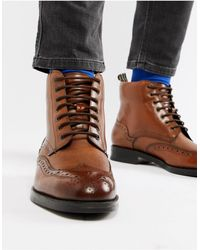 Ted Baker Twrens Brogue Boots - Brown
