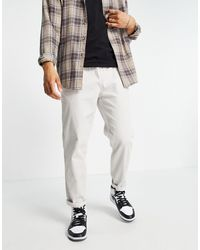 New Look Jogger en velours côtelé - cassé - Blanc