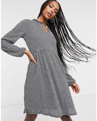 ONLY Свободное Платье Мини С V-образным Вырезом -многоцветный