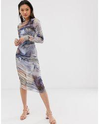 Aeryne Vestido ajustado con estampado de ostras Thias - Rosa