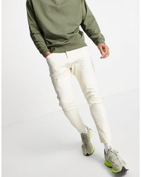 TOPMAN Stretch Tapered Jeans - White