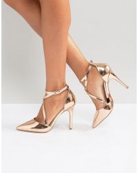 Miss Kg - Crossover Point High Heels - Lyst