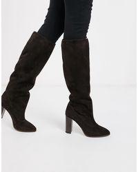 Karen Millen - – Sappho – Overknee-Stiefel aus Wildleder - Lyst