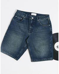 ASOS - Short en jean slim - Reflets verts - Lyst