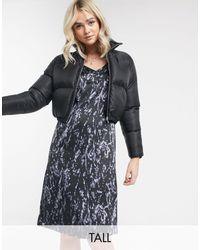 Noisy May Satin Slip Dress - Black