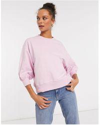 ASOS Sweat-shirt coupe carrée à manches larges - Rose
