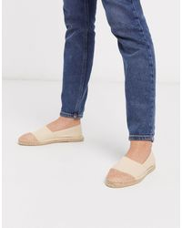 London Rebel Toe Cap Espadrilles - Natural