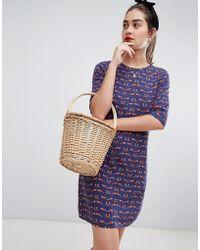 Sugarhill Alison Foxy Tunic Dress - Blue