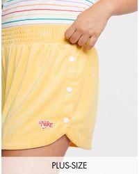 Nike Желтые Махровые Шорты Plus-желтый