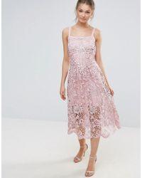 Body Frock - Bodyfrock Heavy Lace Dress With Scalloped Hem - Lyst
