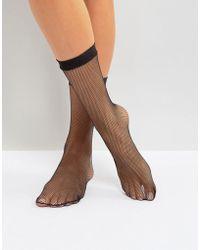 Leg Avenue Fishnet Anklets - Black