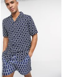 French Connection Co-ord Revere Shirt - Blue