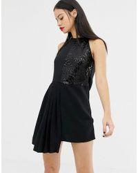 UNIQUE21 - Panel Sequin Column Mini Dress - Lyst