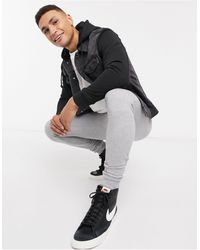 New Look Hooded Denim Jacket With Jersey Sleeve - Black