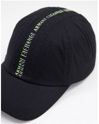 Armani Exchange Черная Бейсболка С Тесьмой -черный Цвет