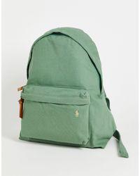 Polo Ralph Lauren Зеленый Рюкзак Из Парусины С Логотипом -зеленый Цвет
