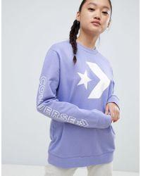 Converse - Sweatshirt In Purple - Lyst