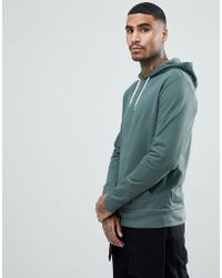 ASOS - Hoodie In Washed Green - Lyst