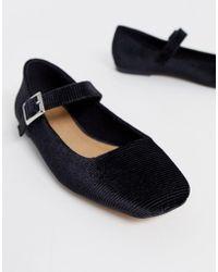 ASOS Links Mary Jane Ballet Flats In Black