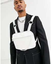 ASOS Chest Harness Bag - White